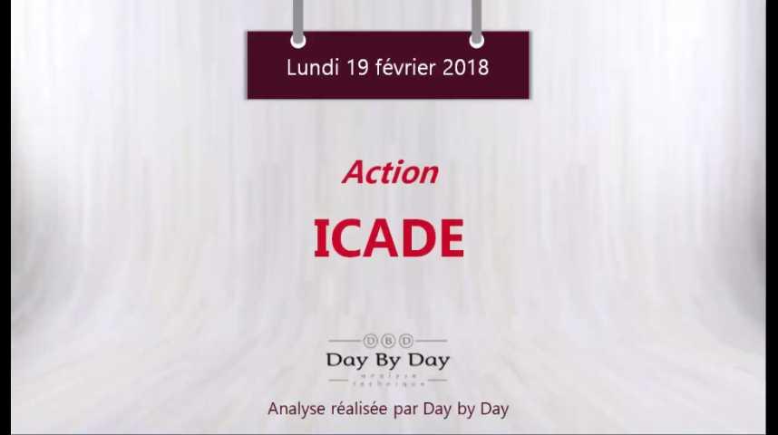 Illustration pour la vidéo Action Icade - rebond sur le support majeur - Flash Analyse IG 19.02.2018
