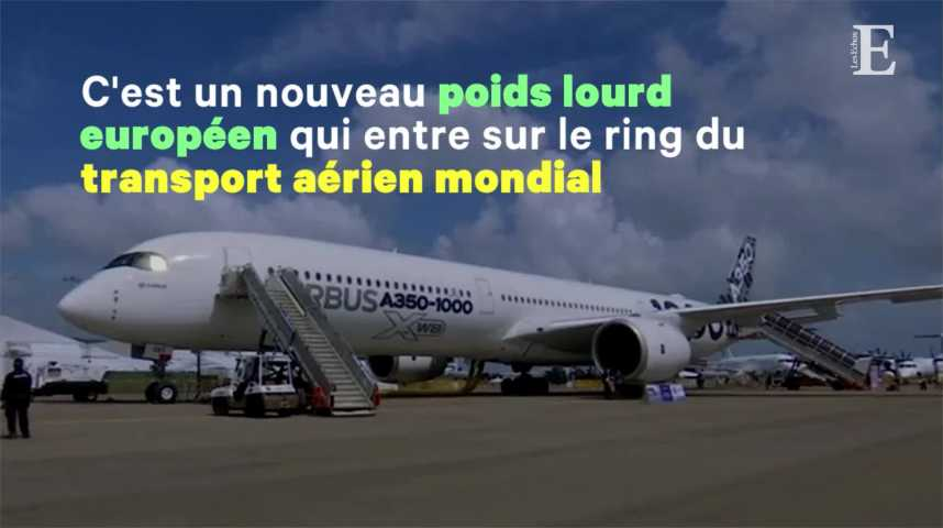 Illustration pour la vidéo Dans la famille Airbus, l'avionneur européen a livré le premier A350-1000
