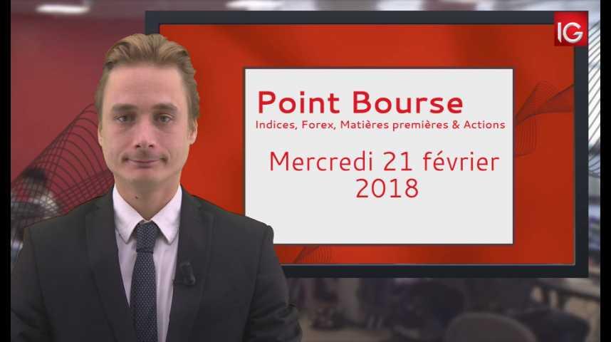 Illustration pour la vidéo Point Bourse IG du 21.02.2018