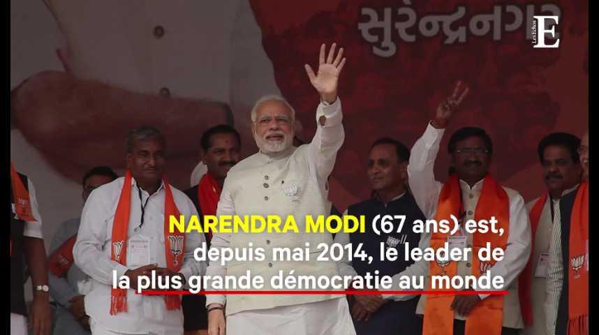 Illustration pour la vidéo Cinq choses à savoir sur Narendra Modi, Premier ministre indien