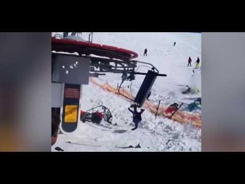 Géorgie : un télésiège s'emballe et éjecte violemment ses passagers