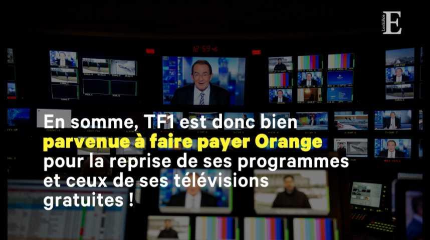 Illustration pour la vidéo Comment TF1 est finalement parvenue à faire payer Orange pour son signal