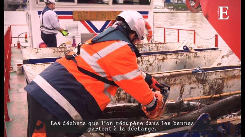Illustration pour la vidéo Décrue de la Seine : le nettoyage du fleuve est toujours en cours