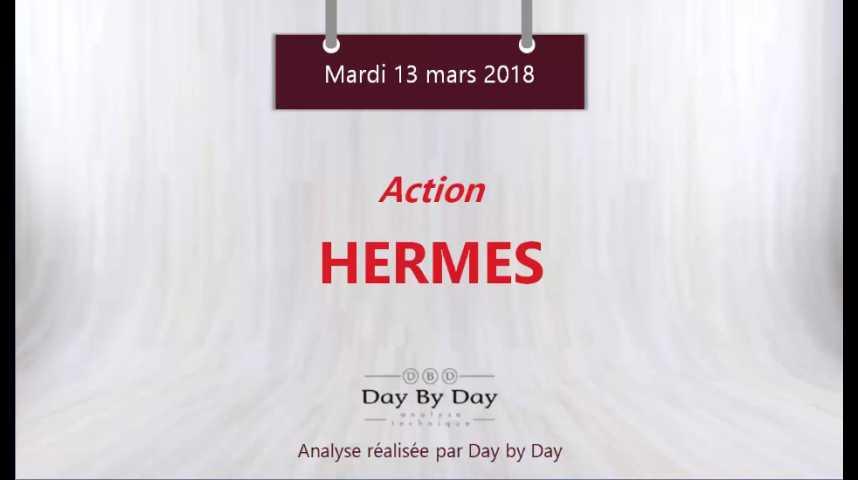 Illustration pour la vidéo Action Hermès : le plus haut historique en ligne de mire - Flash analyse IG 13.03.2018