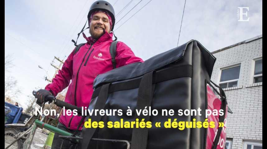 Illustration pour la vidéo Pour la justice, les livreurs à vélo sont bien des travailleurs indépendants
