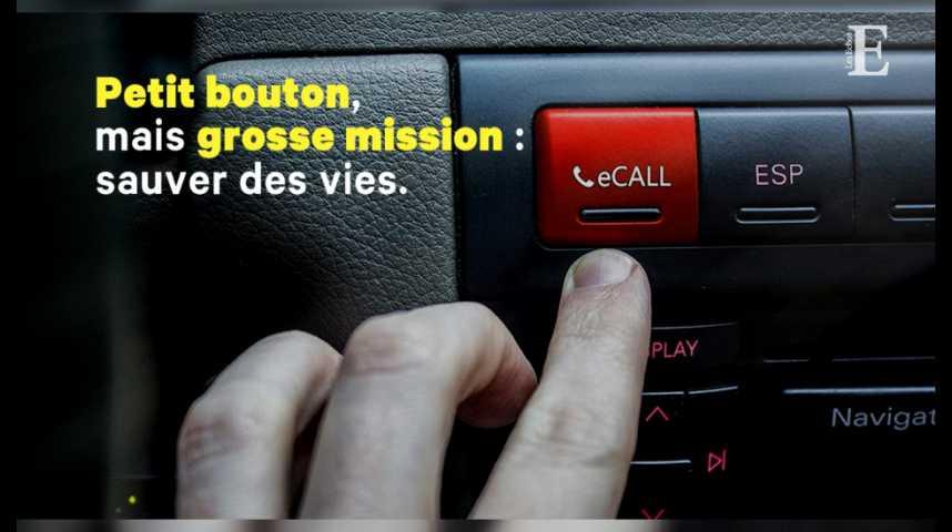 Illustration pour la vidéo Un bouton d'urgence devient obligatoire dans les voitures