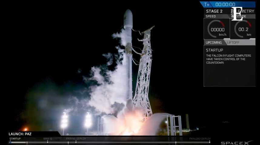 Illustration pour la vidéo SpaceX : lancement réussi pour la Falcon 9, qui transporte les 2 premiers « satellites Internet »