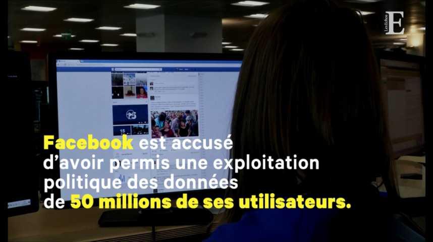 Illustration pour la vidéo Données personnelles : Facebook sur le banc des accusés