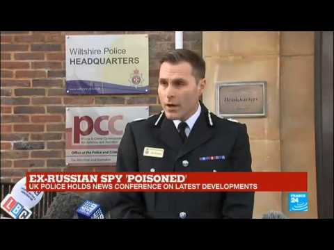 "Ex-Russian spy ""poisoned"": UK police holds news conference on latest development"