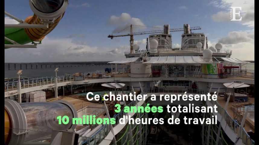 Illustration pour la vidéo STX France livre le plus gros paquebot du monde