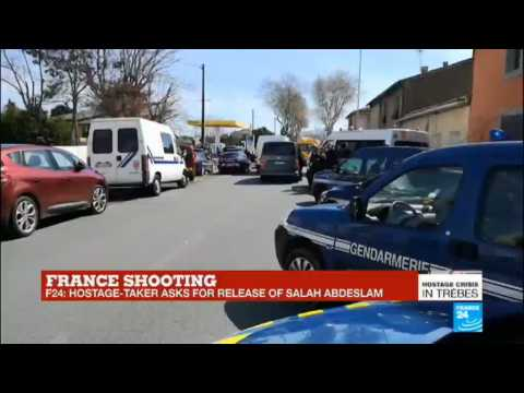 France shooting: Interior ministry confirms two people killed, at least three injured in Trèbes'' supermarket