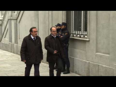 Catalan separatist leaders arrive at Madrid Supreme Court