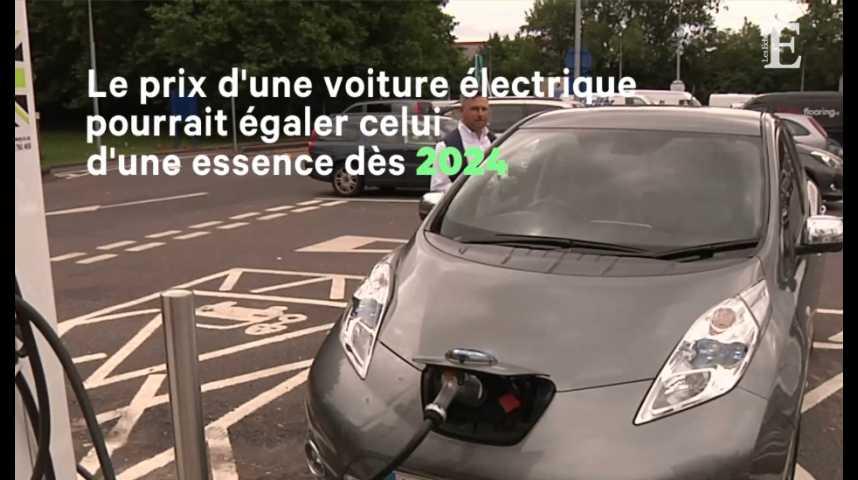 Illustration pour la vidéo Auto : l'électrique bientôt moins chère que la voiture à essence ?
