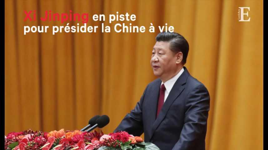 Illustration pour la vidéo Xi Jinping en piste pour présider la Chine à vie