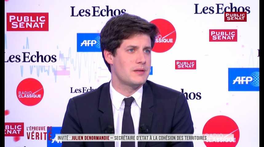 Illustration pour la vidéo Julien Denormandie appelle Jean-Luc Mélenchon à « respecter le vote des Français »