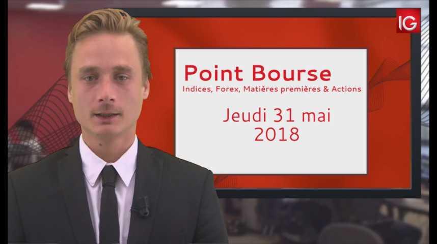 Illustration pour la vidéo Point Bourse IG du jeudi 31 mai