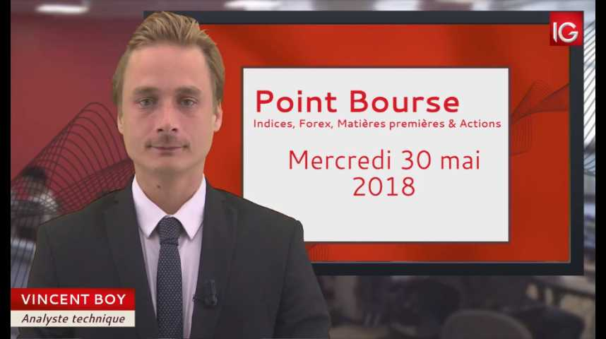 Illustration pour la vidéo Point Bourse du mercredi 30 mai 2018