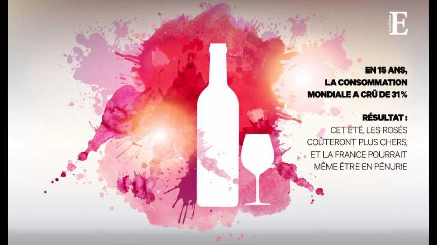 Illustration pour la vidéo Le rosé : trop de consommateurs, trop peu de vin