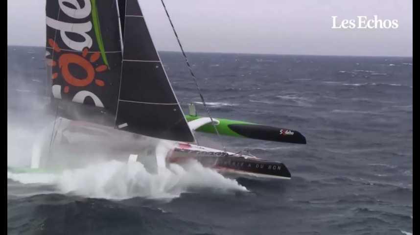 Illustration pour la vidéo Voile : Thomas Coville pulvérise le record de la traversée de l'Atlantique