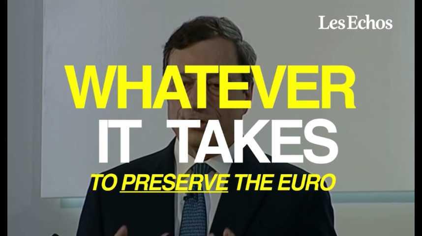 Illustration pour la vidéo « Whatever it takes » : comment Draghi a sauvé l'euro en une phrase il y a 5 ans