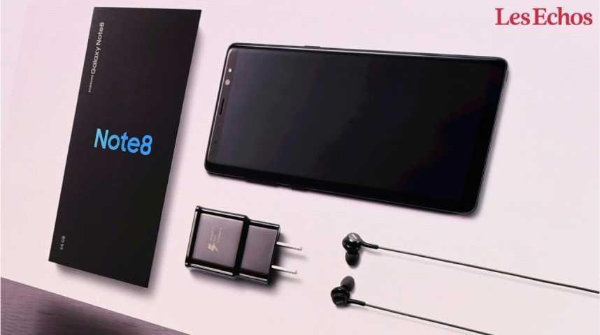 Illustration pour la vidéo Samsung présente son Galaxy Note 8