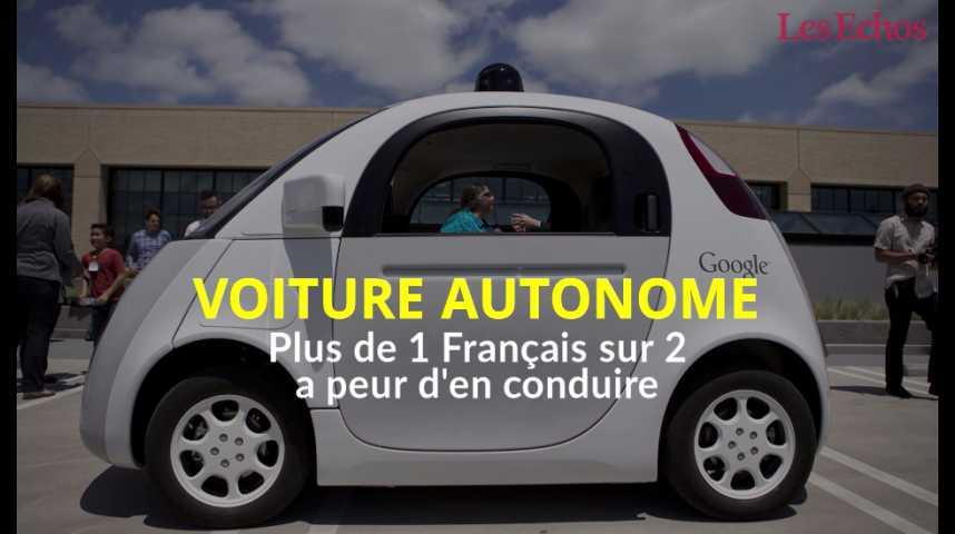 Illustration pour la vidéo Plus de 1 Français sur 2 a peur de conduire une voiture autonome