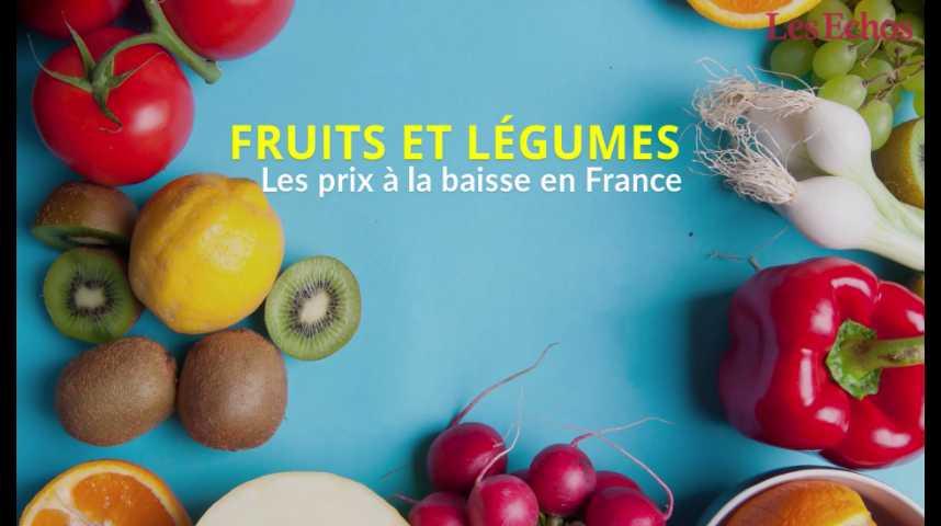 Illustration pour la vidéo Le prix des fruits et légumes à la baisse en France