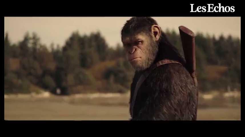 """Illustration pour la vidéo """"La Planète des singes : Suprématie"""", au cinéma cet été"""