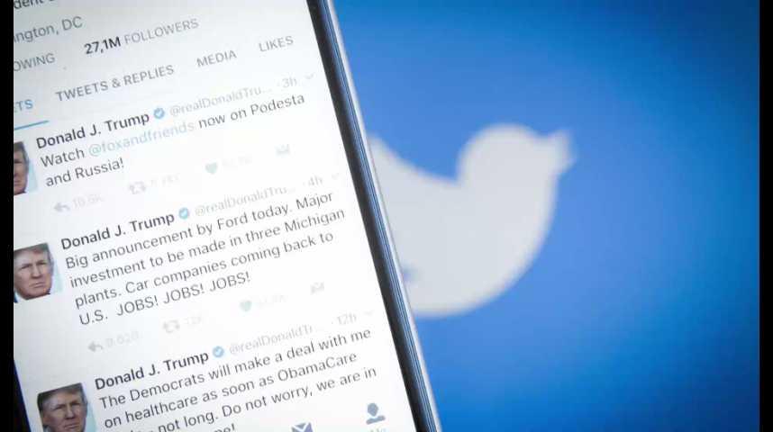 Illustration pour la vidéo Twitter perdrait gros si Trump fermait son compte