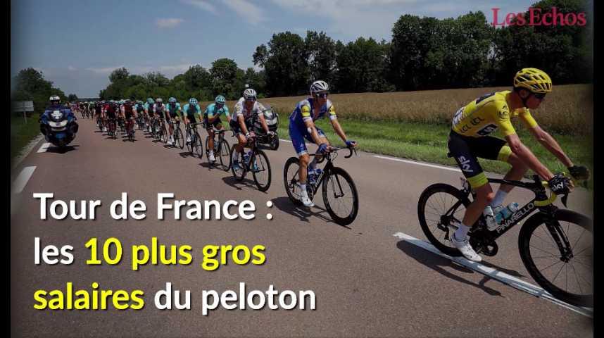 Illustration pour la vidéo Tour de France : les 10 plus gros salaires du peloton