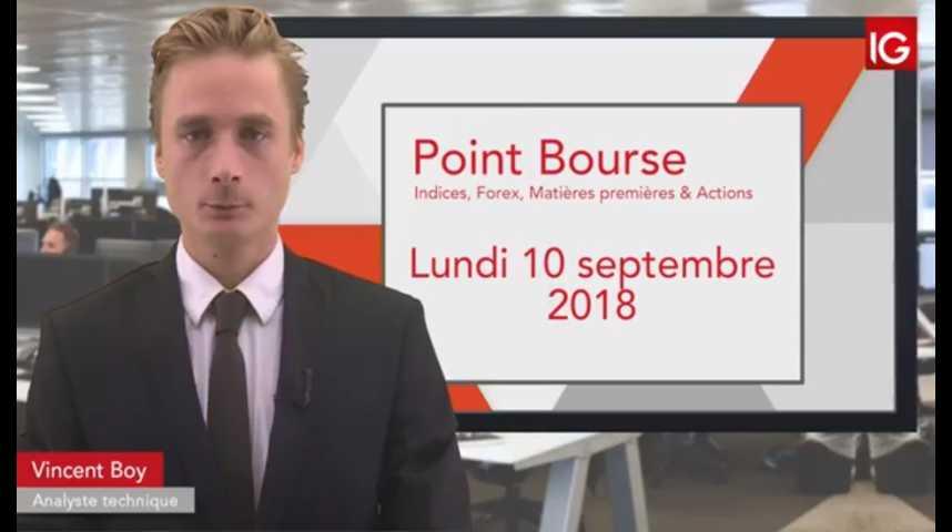 Illustration pour la vidéo Point Bourse du lundi 10 septembre 2018