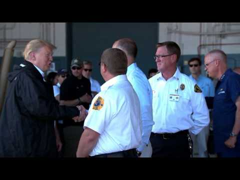 Trump visits North Carolina in the wake of Florence