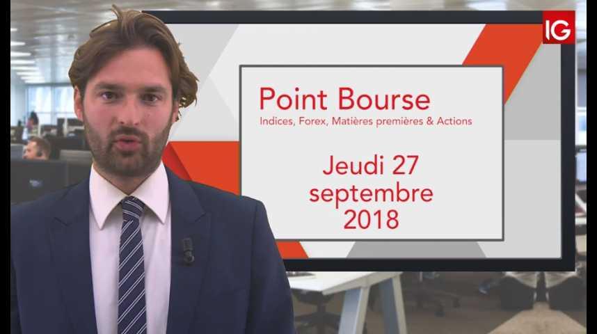 Illustration pour la vidéo Point Bourse IG du Jeudi 27 septembre
