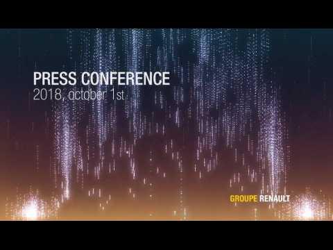 Conférence de presse Renault - Carlos Ghosn