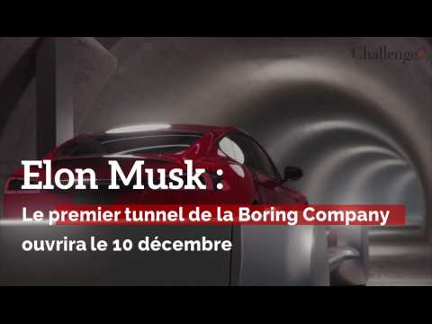 Elon Musk : Le premier tunnel de la Boring Company ouvrira le 10 décembre