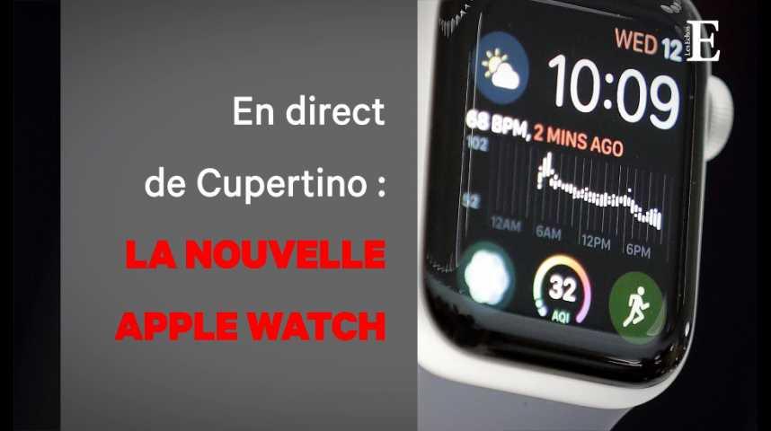Illustration pour la vidéo Avec sa nouvelle Watch, Apple s'invite sur le marché de la santé