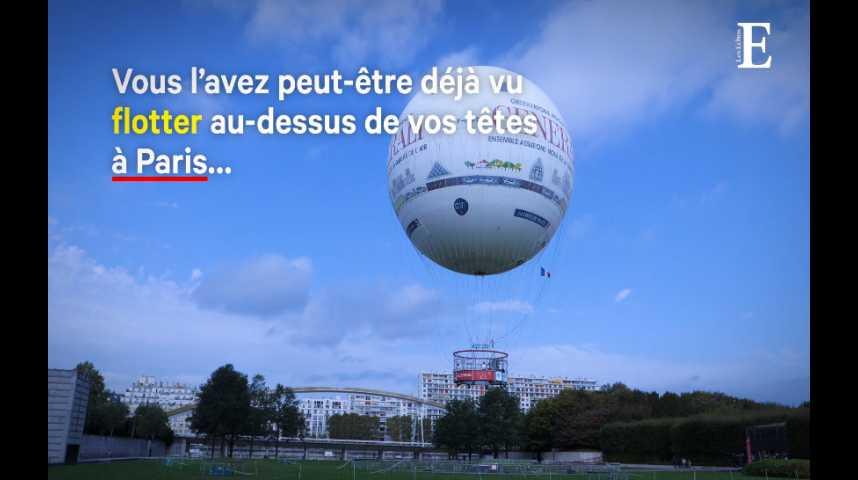 Illustration pour la vidéo CO2, ozone et particules fines : vu du ballon de Paris, tout n'est pas si gris