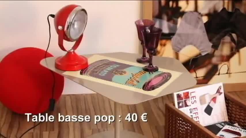 Vidéo : customiser une table basse façon pop art - Video sur Deco.fr