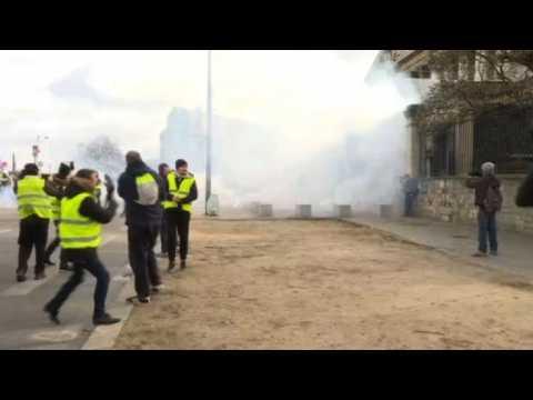 Yellow vest protests in Paris turn violent