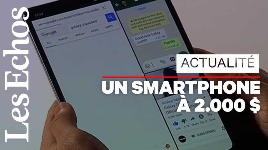 Illustration pour la vidéo Galaxy Fold : Samsung lance la bataille des smartphones pliables