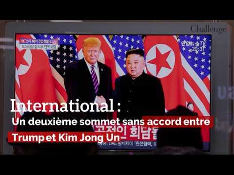 International  : un deuxième sommet sans accord entre Trump et Kim Jong Un