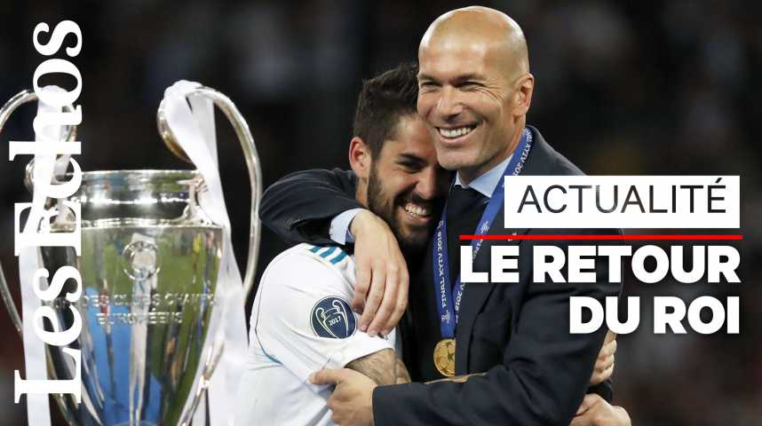 Illustration pour la vidéo Zidane revient (déjà) au Real Madrid !