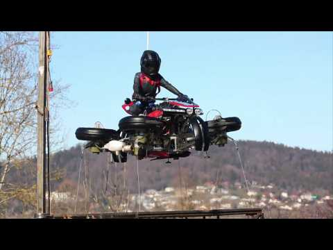 Company Demonstrate Flying Motorcycle