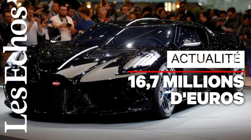 """Illustration pour la vidéo """"La voiture noire"""" de Bugatti, nouvelle voiture la plus chère de l'histoire"""