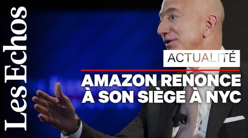 Illustration pour la vidéo Amazon renonce à son siège de New York