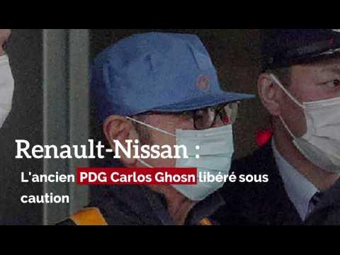 Renault-Nissan: Carlos Ghosn libéré sous caution