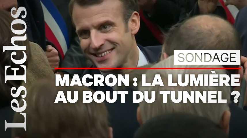 Illustration pour la vidéo Pourquoi Emmanuel Macron remonte la pente dans les sondages