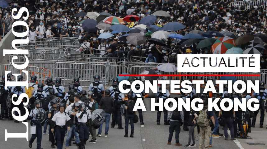 Illustration pour la vidéo A Hong Kong, la population défie le régime de Pékin, la ville paralysée