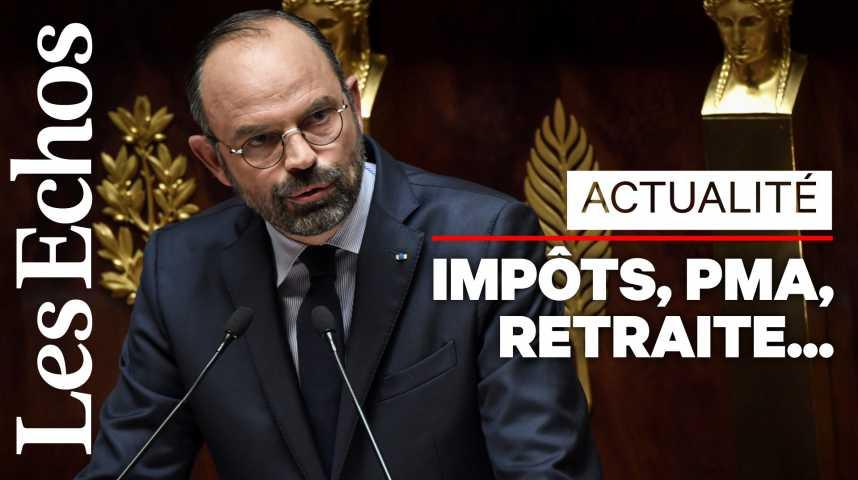 Illustration pour la vidéo Édouard Philippe : les annonces à retenir de son discours de politique générale