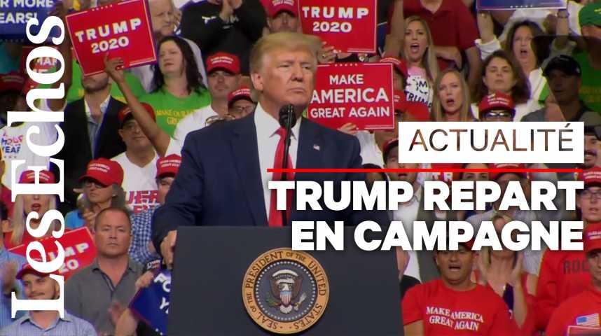 Illustration pour la vidéo Trump lance sa campagne pour 2020 sur un air de 2016